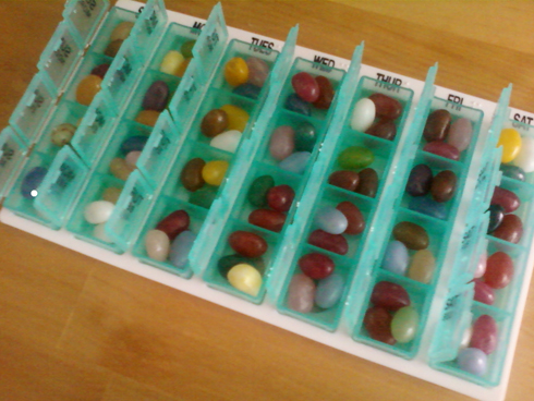 Pill Box Jelly Beans