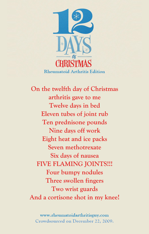 12 Days Of Christmas (Rheumatoid Arthritis Edition) | Rheumatoid ...