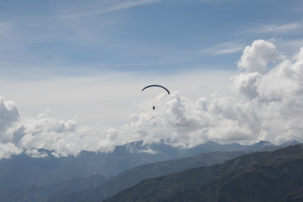 RA Guy Flying Above the Andes